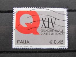 *ITALIA* USATI 2005 - QUADRIENNALE ROMA - SASSONE 2804 - LUSSO/FIOR DI STAMPA - 6. 1946-.. Repubblica