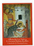 SANTINO Image Pieuse Image Religieuse Holy Card  SAN GIOVANNI DECOLLATO BATTISTA  - SERIE BRAVIO DELLE BOTTI  NUMERATO - Religion & Esotericism