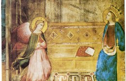 SANTINO Image Pieuse Image Religieuse Holy Card  SAN GABRIELE ARCANGELO ANNUNCIAZIONE  PERFETTO - Religion & Esotericism