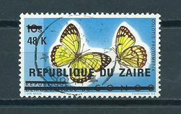 1977 Zaïre Overprint,papillon,schmetterlinge Used/gebruikt/oblitere - Zaïre