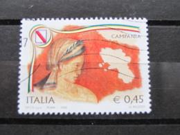 *ITALIA* USATI 2005 - REGIONI D'ITALIA CAMPANIA - SASSONE 2806 - LUSSO/FIOR DI STAMPA - 6. 1946-.. Repubblica