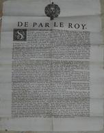 Affiche Originale 1703 Louis XIV Sur Troubles En Cevennes Et Languedoc Format 35 X 45 Cm - Affiches