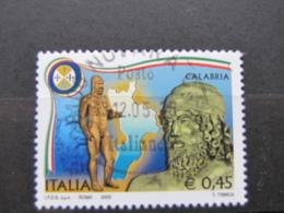 *ITALIA* USATI 2005 - REGIONI D'ITALIA CALABRIA - SASSONE 2805 - LUSSO/FIOR DI STAMPA - 6. 1946-.. Repubblica