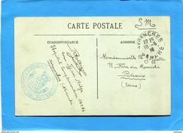 Guerre 14-18-carte Postale -soldat Belge -en France -à L'hopital Compl N°35  Avranches+cachet Armée Belge - WW I