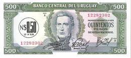 Uruguay  - Pick 54 - 0.50 Nuevo Peso = 500 Pesos 1975 - Unc - Uruguay