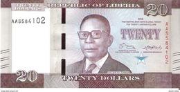 Liberia - Pick 33 - 20 Dollars 2016 - Unc - Liberia