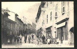 CPA Montmélian, L`Hotel Épée, La Rue Principale - Frankreich