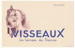 Buvard 21 X 13.5 VISSEAUX La Lampe De France Modèle GA86 R7 Lampe Pour Poste Radio (?) Tête De Femme - Electricity & Gas