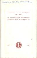 Menu - Strijdersbond - Aandenken Jumelering Groeperingen Schelde & Leie En Verviers - Spa - 1920 - 1965 - Menus