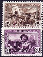 Sowjetunion UdSSR - 15. Jahrestag Der Bildung Der Kirgisischen ASSR (MiNr: 804/5) 1941 - Gest Used Obl - Usados