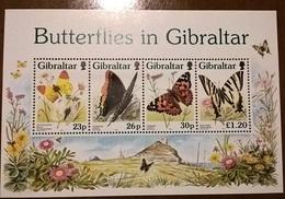 GIBILTERRA FARFALLE FOGLIETTO - Gibilterra