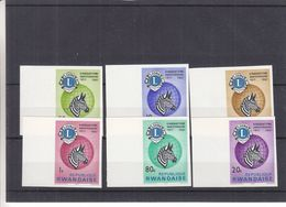 Lions - Rwanda - COB 227 / 32  ** - NON Dentelé - Animaux - Zèbres - Valeur 30 Euros - Rotary, Lions Club