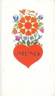 Menu - Huwelijk Arlette X Wilfried - Kortemark 1974 - Menus