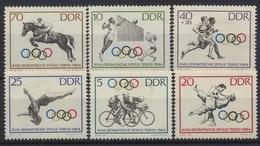 //// DDR Yvert 736 / 741** Michel 1033 / 1038** - Ete 1964: Tokyo