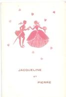 Menu - Huwelijk Mariage - Jacqueline X Pierre - Bruges - Brugge 1963 - Menus