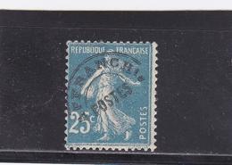 FRANCE PREOBLITERES TYPE SEMEUSE CAMEE 25 C. BLEU N° 56  ** - 1893-1947