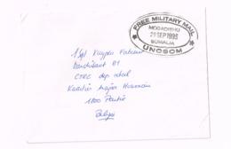 """""""Free Military Mail"""" UNOSOM.Mogadishu,Somalia"""" Sur Lettre Expédiée à Peutie. - Marcophilie"""