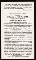 Ertvelde, Assche, Asse, 1928, Karel Haeck, Van Roy - Devotion Images