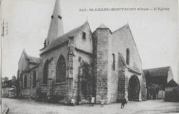SAINT-AMAND-MONTROND - L'EGLISE - BIEN ANIMEE - VERS 1900 - Saint-Amand-Montrond