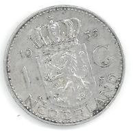 PAYS-BAS - 1 GULDEN 1955 - ARGENT - JULIANA - [ 3] 1815-… : Royaume Des Pays-Bas