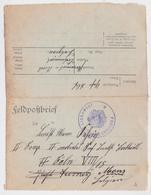LIBRAMONT PROVIANT MAGAZIN FELDPOST BRIEF FELDPOSTBRIEF MARQUE POSTALE MILITAIRE GRANDE GUERRE BELGIQUE LUXEMBOURG WW1 - Armée Allemande