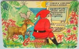 123CATA Christmas EC$10 No Slash C/n - Antigua En Barbuda