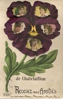 Cpa Chatelaillon Recevez Mes Amitiés - Châtelaillon-Plage