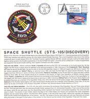 Espace - Drapeaux - Fusée - Etats Unis - Lettre De 2001 - Space Shuttle STS 105 Discovery - Verenigde Staten