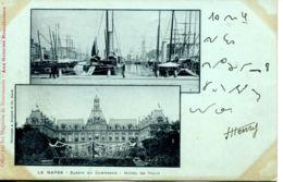 N°69619 -cpa  Le Havre -bassin Du Commerce -hôtel De Ville- - Le Havre