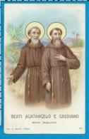 Holycard  St. Agatangelo & Cassiano - Santini