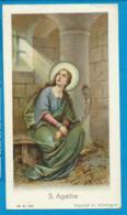Holycard  St. Agatha - Andachtsbilder