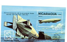 Nicaragua 1984-UPU-Dirigeable-YT B166***MNH - Zeppelins