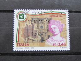 *ITALIA* USATI 2005 - REGIONI D'ITALIA LOMBARDIA - SASSONE 2808 - LUSSO/FIOR DI STAMPA - 6. 1946-.. Repubblica