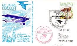 """(DDR-B1) DDR Sonderkarte """"60 JAHRE DERULUFT"""" EF Mi 2583 SSt. 1.5.82 BERLIN 7 - Briefe U. Dokumente"""