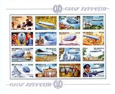 Nicaragua 1994-Hugo Heckener,Zeppelin--YT1777/82 Feuillet+B221***MNH - Zeppelins