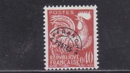FRANCE PREOBLITERES TYPE COQ GAULOIS 40 C. ROUGE BRUN N° 121 ** - 1893-1947