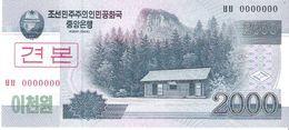 North Korea - Pick 65s - 2000 Won 2002 - 2009 - Unc - Specimen - Corea Del Nord