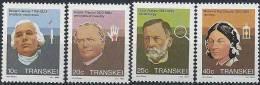 1982 TRANSKEI Afrique Sud 124-27** Médecine, Pasteur - Transkei