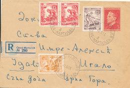 Yugoslavia Rtegistered Postal Stationery Cover Gozd-Martuljek 2-9-1956 - Postal Stationery
