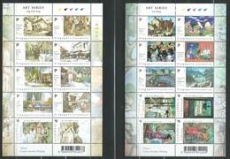 Singapore 2004 Paintings Of Local Artists.Art. 2 S/S.MNH Bali,Bangkok,Nepal,Italy,Kashmir.. - Singapur (1959-...)