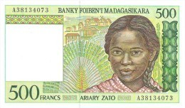 Madagascar - Pick 75 - 500 Francs = 100 Ariary 1994 - Unc - Madagascar