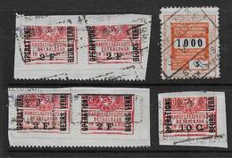 Belgique - Lot De 6 Timbres Fiscaux - Revenue Stamps