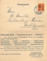 "Motiv Karte  ""Schmidt-Gull, Papeterie En Gros, Zürich""            1923 - Lettres & Documents"