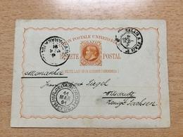 FL3604 Brasilien Stationery Entier Postal Ganzsache P 10 Von Rio De Janeiro Mit Bahnpost Calais - Paris Nach Wilsdruff - Interi Postali