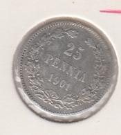 @Y@   Finland  25 Pennia   1901   Zilver   (2728) - Finnland