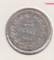 @Y@   Finland  25 Pennia   1901   Zilver   (2727) - Finnland