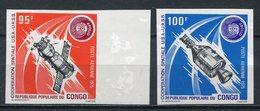 1973-CONGO- ESPACE-APOLLO/SOYUZ-IMPERF. -M.N.H. -  2 VAL. LUXE !! - Neufs