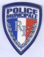 Insigne De Bras De La Police Municipale - Police & Gendarmerie