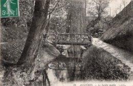 CPA   92   ASNIERES---LE JARDIN MODELE---1908 - Asnieres Sur Seine