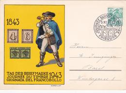 Suisse - Tag Der Briefmarke/Journée Du Timbre/ Giornata Del Francobollo -  Fribourg 1943 - Svizzera